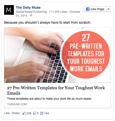 Example short post facebook tips