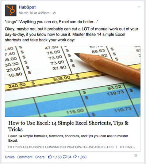 Hubspot Excel Blog post