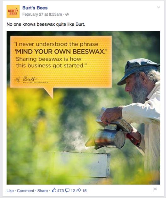Burt's bees shareable mem