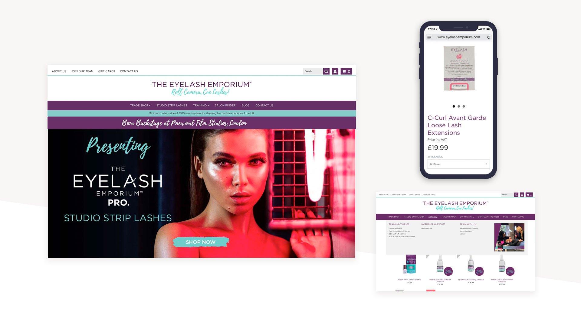 eyelash-website-layout