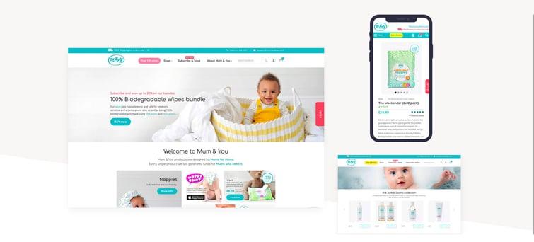 case study mum & You website design