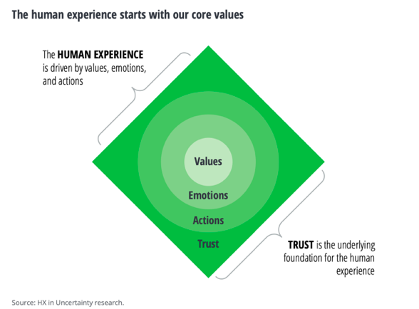 The human experience starts with core values