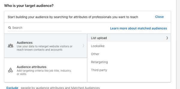 LinkedIn Ads Target Audience