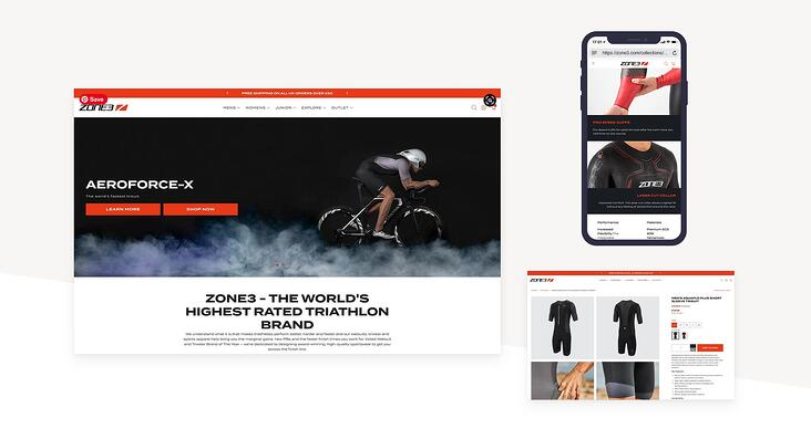 zone 3 website design up digital