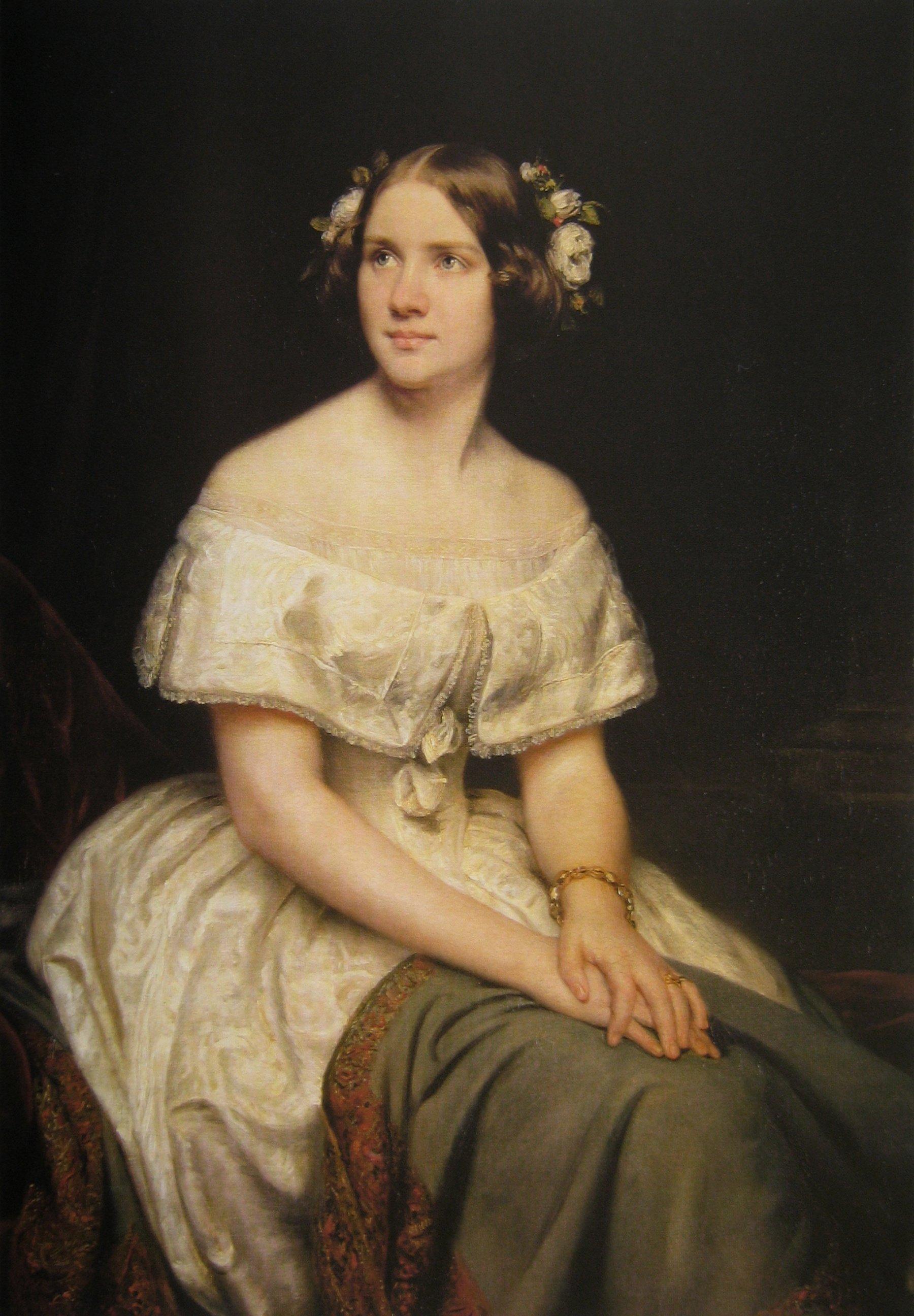 Portrait of Jenny Lind by Eduard Magnus (1862)