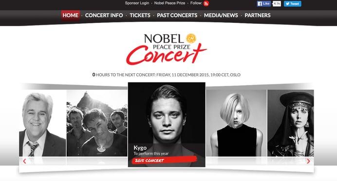 UP works on Nobel Peace Prize Concert social media and website