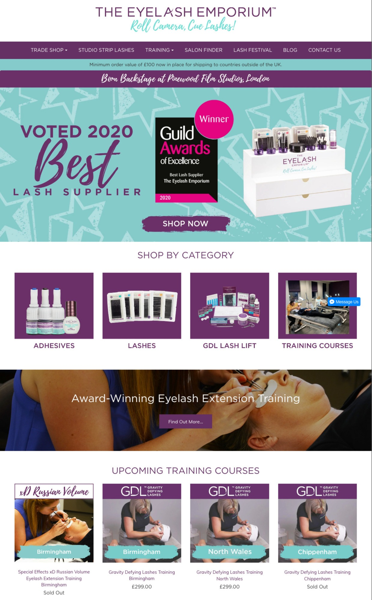 Eyelash Emporium eCommerce site