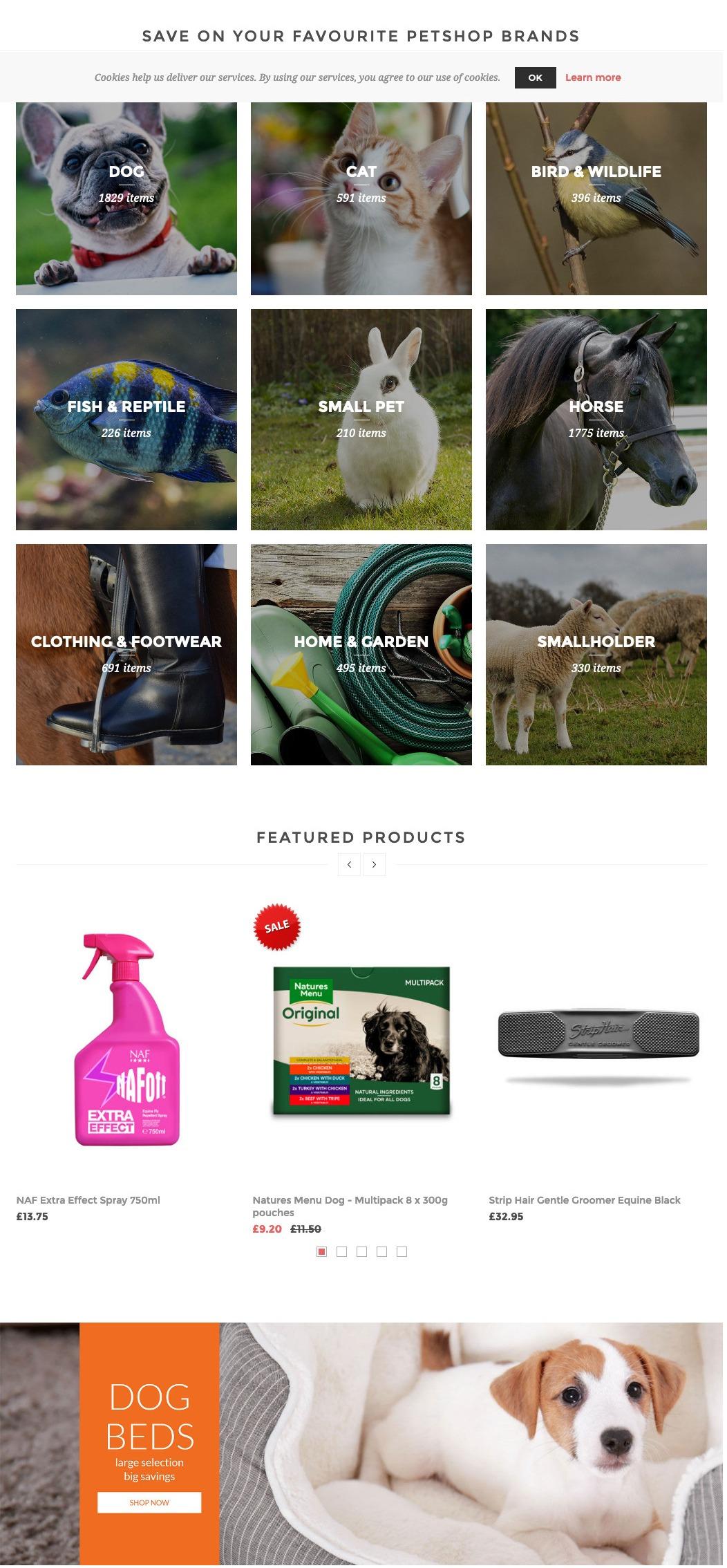 Rokers Pet Supplies NopCommerce ecommerce store