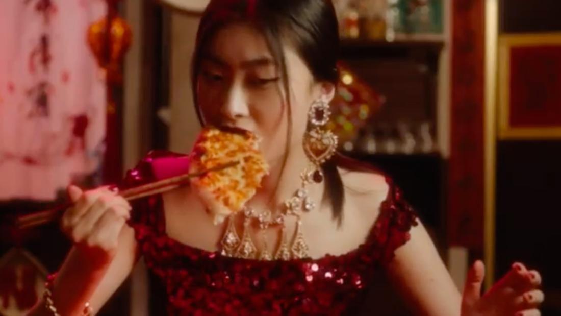 Dolce & Gabbana Chinese Video Pizza Chopsticks