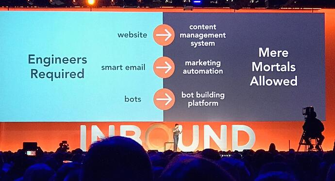 HubSpot is freeing us from needing engineering prowess.