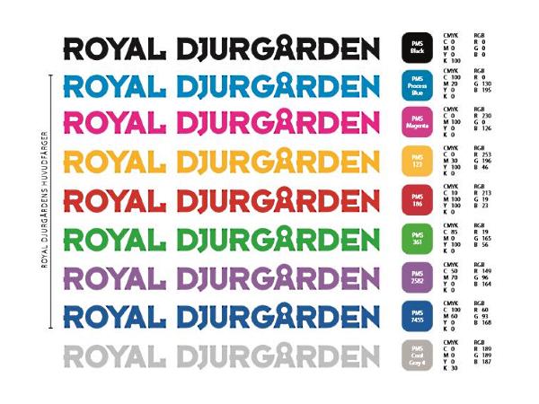colour palette with RGB values