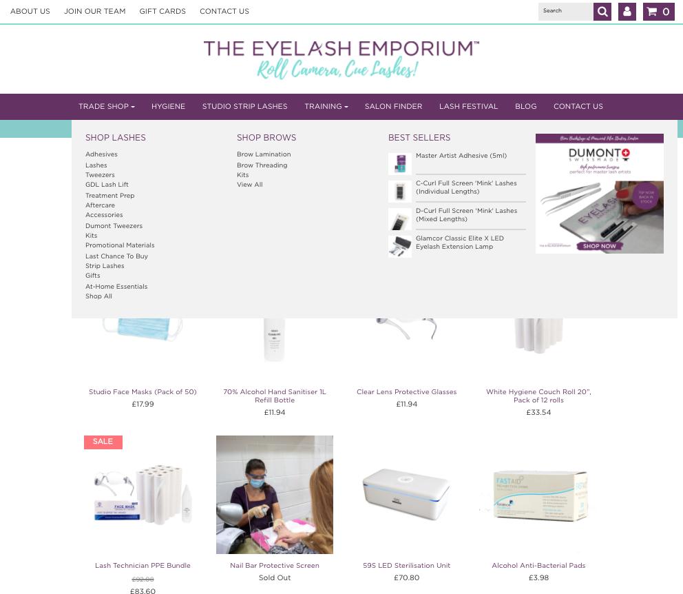 eyelash ecommerce shop dpc