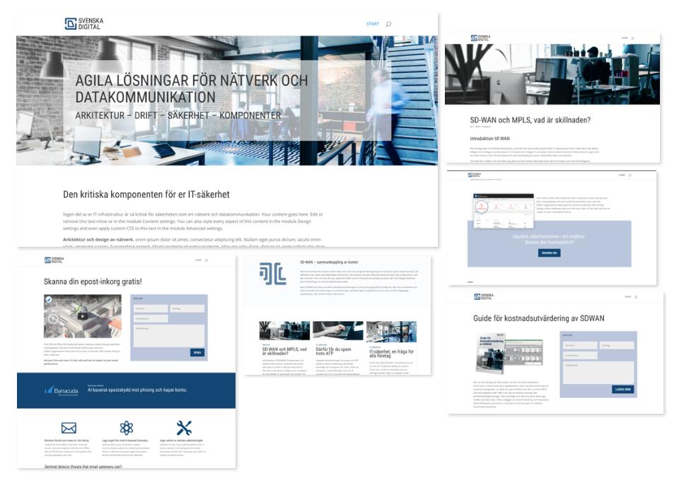 Svenska Digital Web design