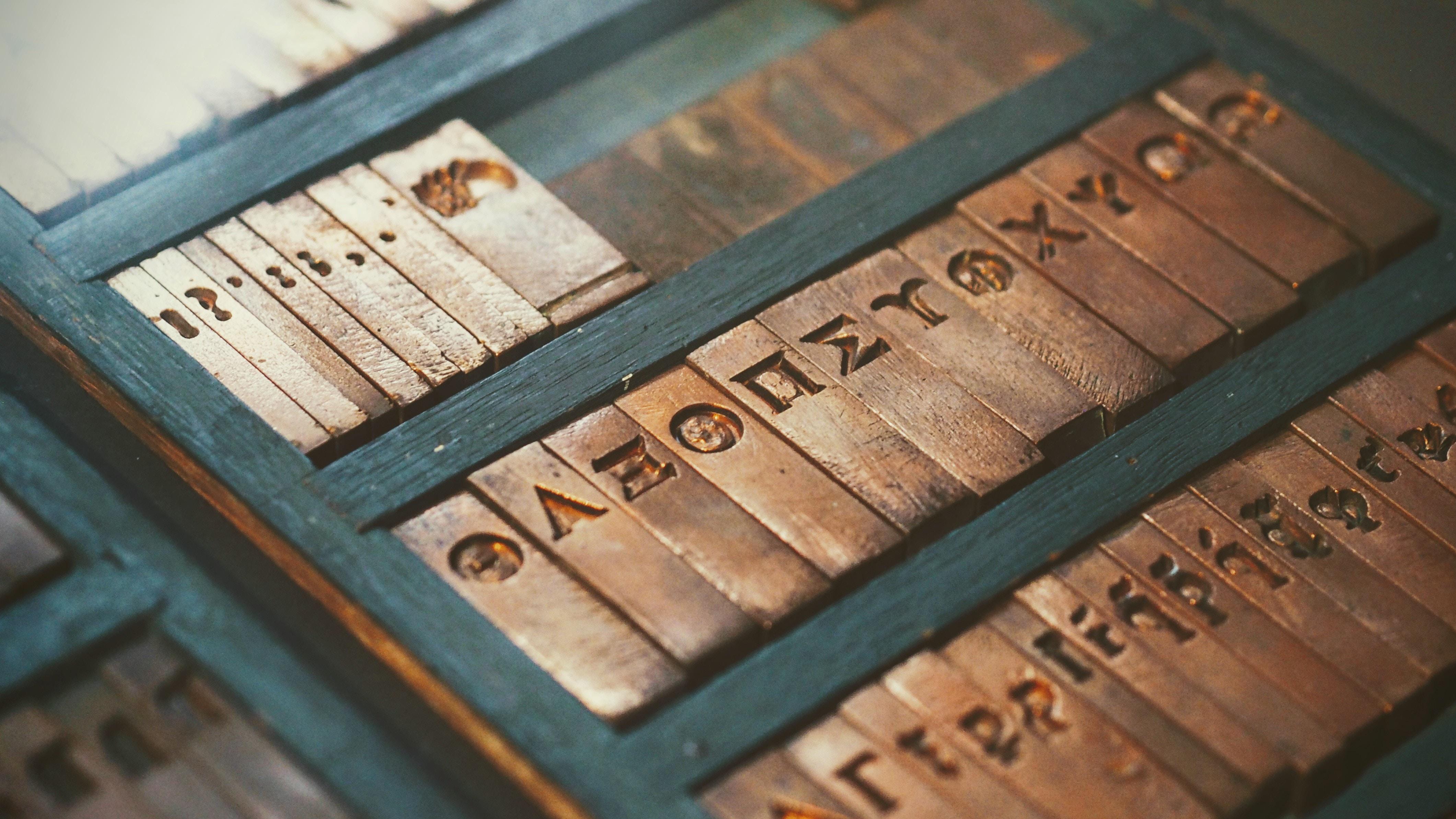 ancient press type