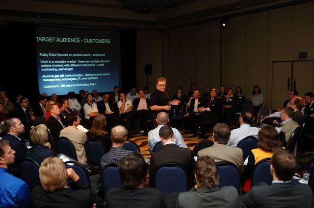 Julian Stubbs Presenting a client Workshop