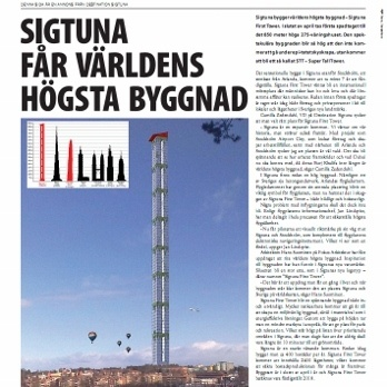 Sigtuna world's tallest building ad