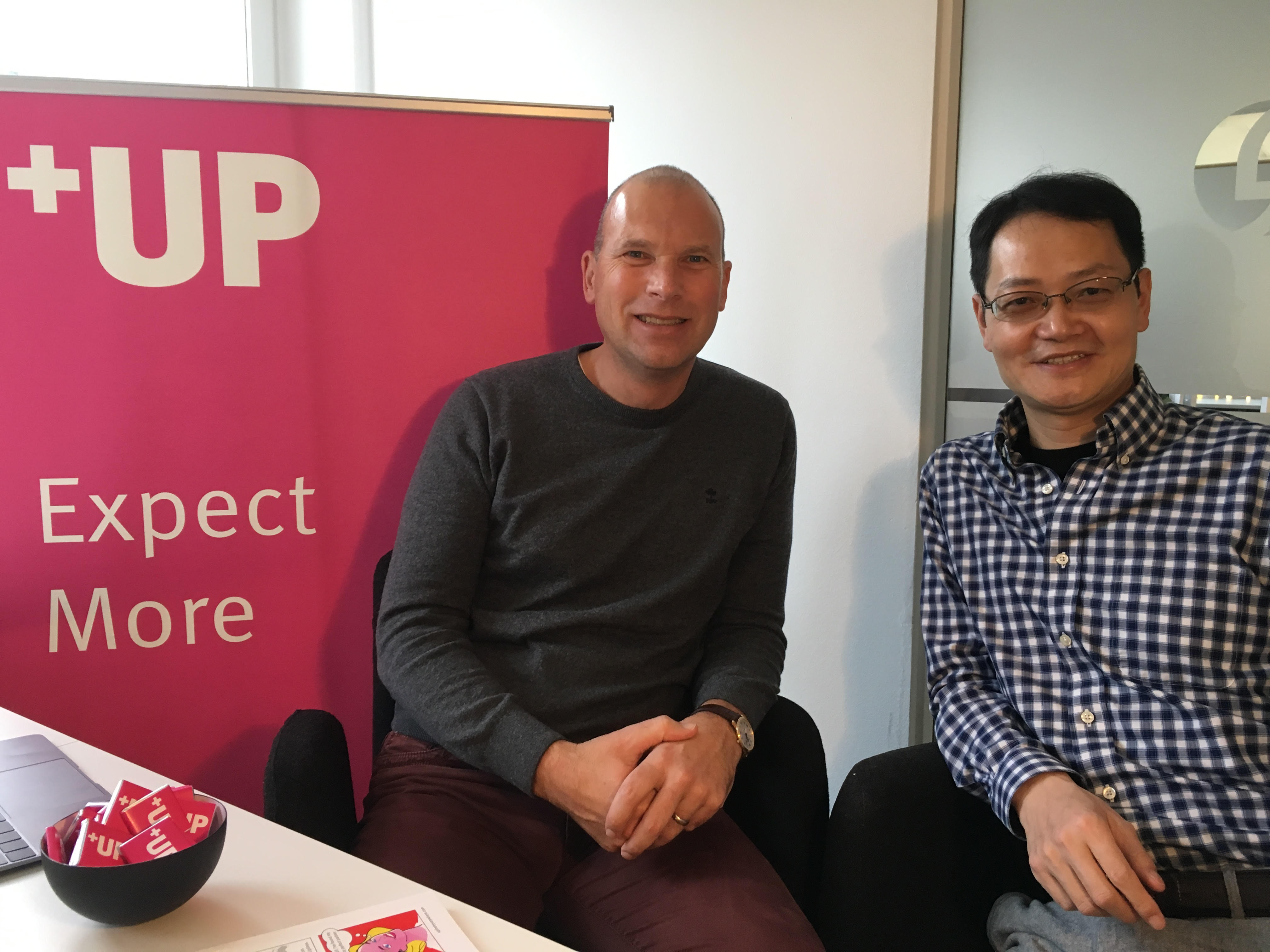 UP members lawrence masle and michael zhou